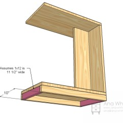 Diy Living Room Side Tables Modern Style Ana White Rolling C End Table Or Sofa Projects Step 4 Instructions