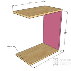 Diy Living Room Side Tables Red And White Curtains For Ana Rolling C End Table Or Sofa Projects