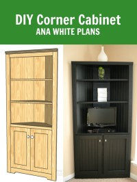 Ana White | Corner Cabinet Storage Shelf - DIY Projects