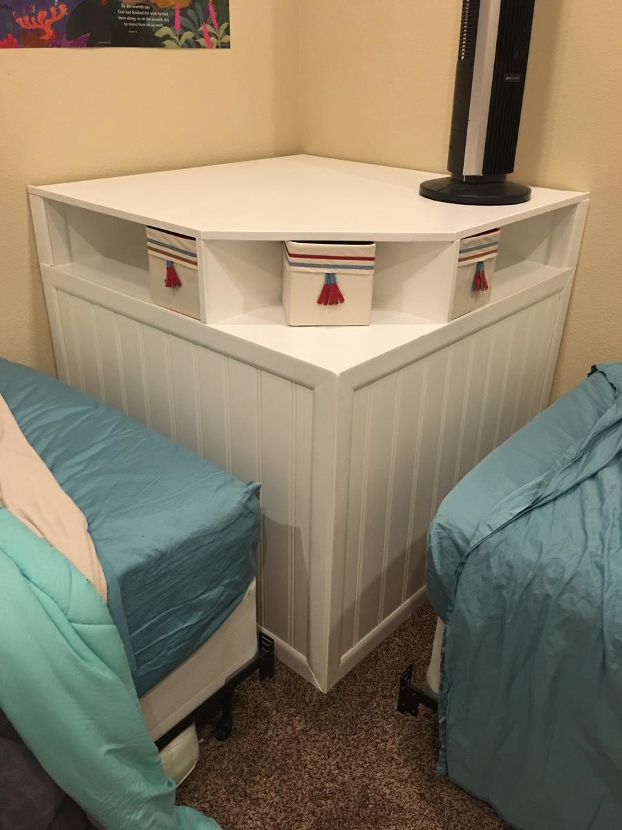 Corner Headboard Storage For Twin Beds Ana White