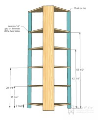 free corner shelf woodworking plans