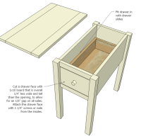 Ana White | Narrow Cottage End Tables - DIY Projects