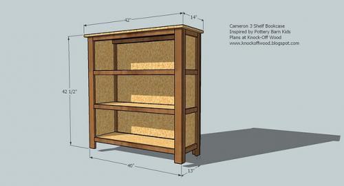 Long 2 Shelf Bookcase