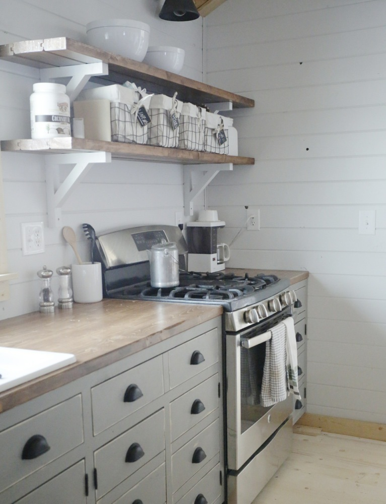 shelves for kitchen cabinets italian ana white open our cabin diy projects