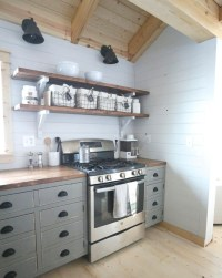 Ana White | Open Shelves for our Cabin Kitchen - DIY Projects
