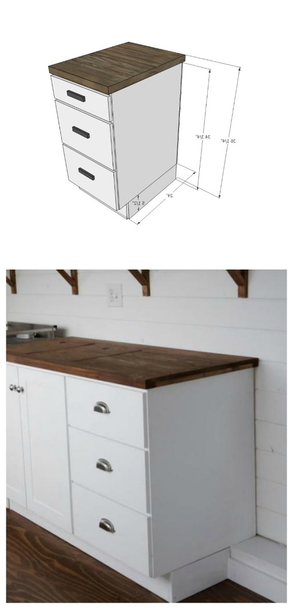 Ana White  Tiny House Kitchen Cabinet Base Plan  DIY Projects