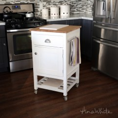 Kitchen Prep Cart Cabinets Organizer Ana White How To Small Island With Compost Diy Projects