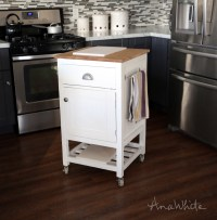 Ana White | HOW TO: Small Kitchen Island Prep Cart with ...