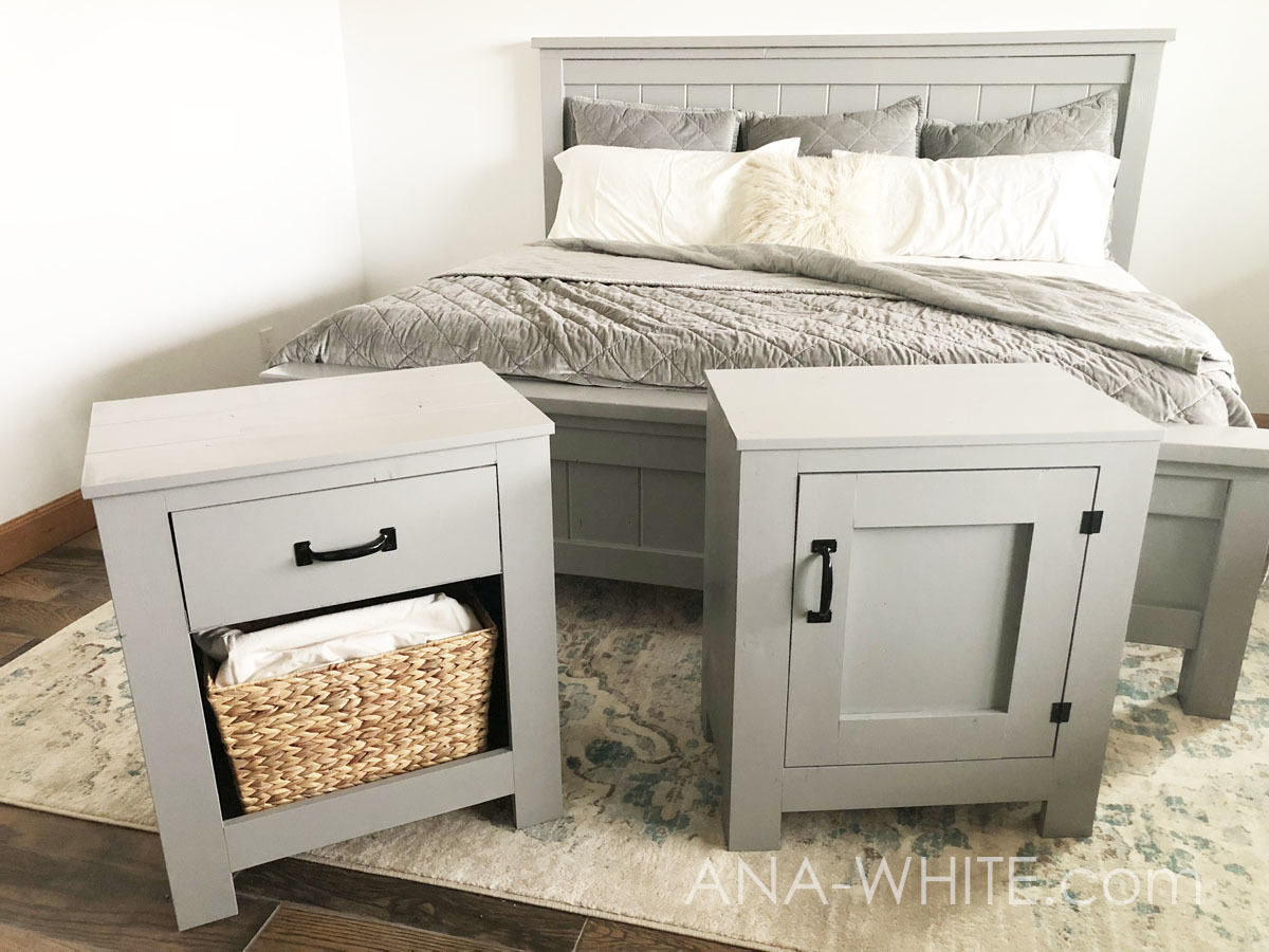 Cabinet Style Farmhouse Nightstand With Drawer Ana White
