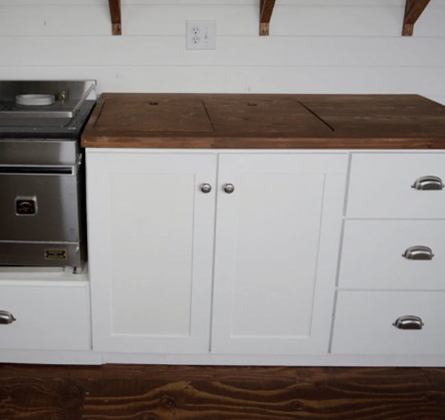Ana White Euro Style Kitchen Sink Base Cabinet For Our Tiny House