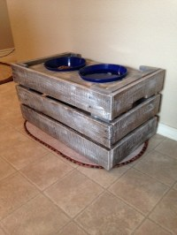 Ana White | Pallet wood Dog Bowl Stand - DIY Projects