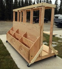 Ana White | Ultimate Lumber and Plywood Storage Cart - DIY ...