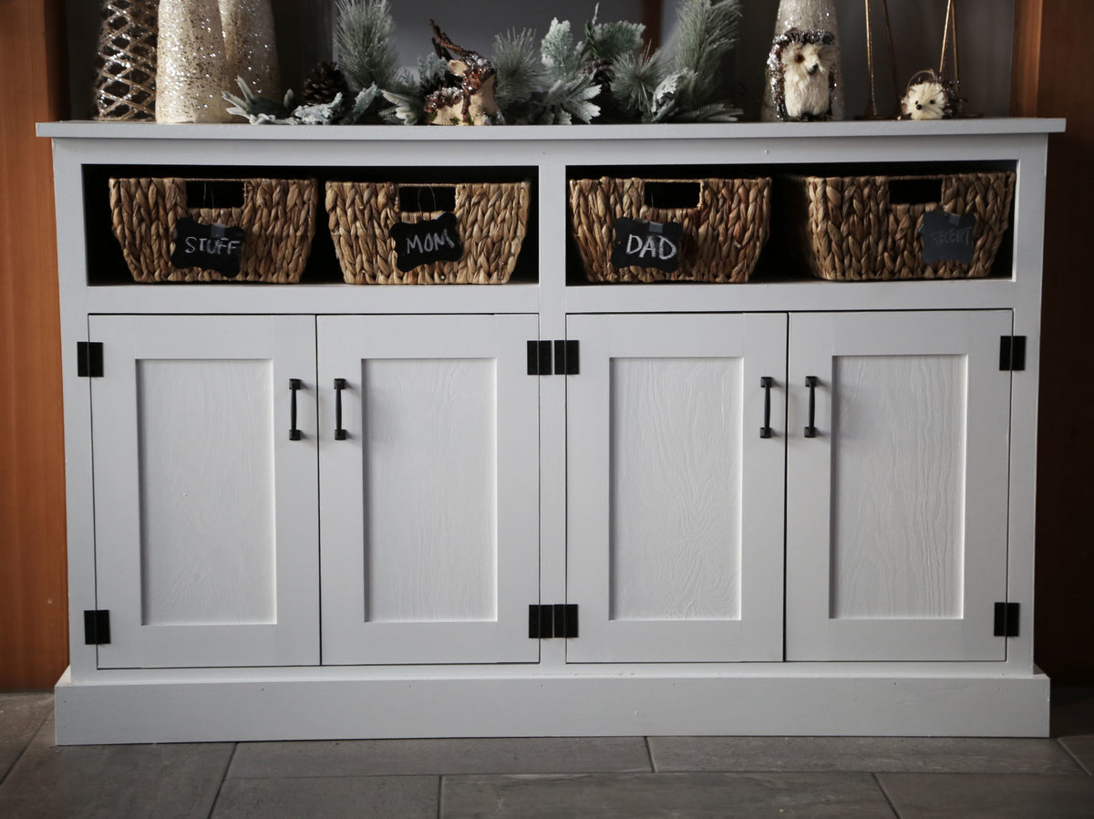 Ana White Entryway Console With Open Shelves Double