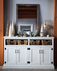 Entryway Console with Open Shelves - Double Width | Ana ...