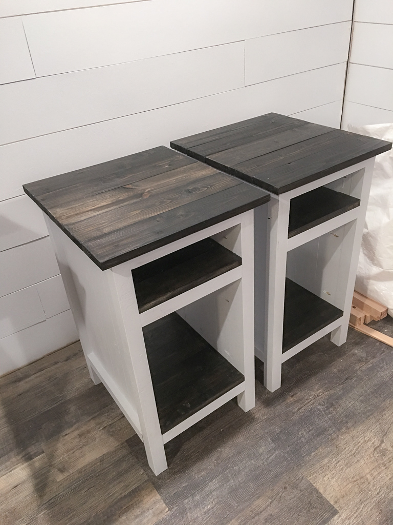 Planked Wood Bedside Table With Shelves Ana White