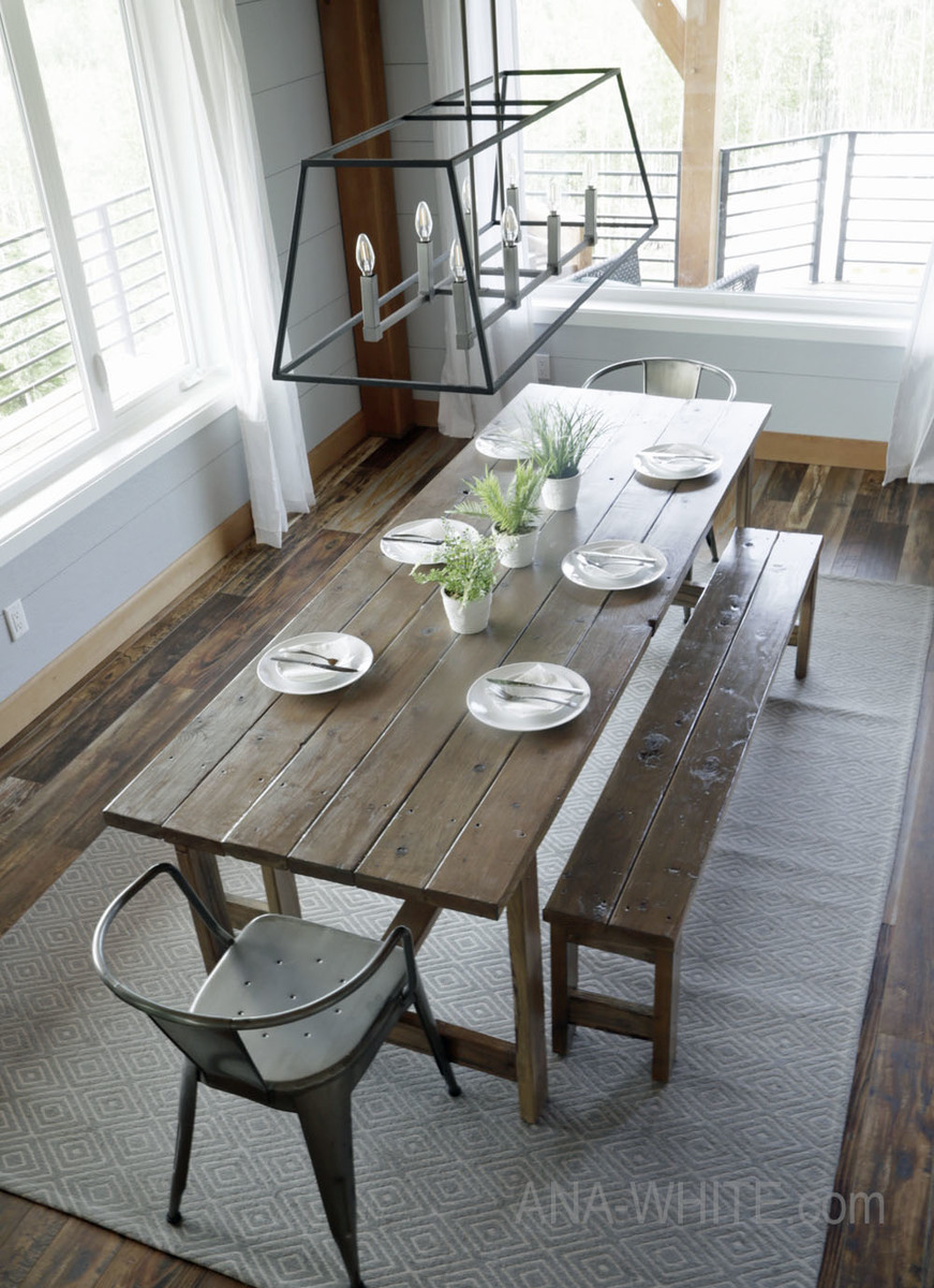 living room set diy rugs size ana white beginner farm table 2 tools 50 lumber projects i ve been wanting to get the crowd a very simple inexpensive plan for years now just because you aren t an expert woodworker with