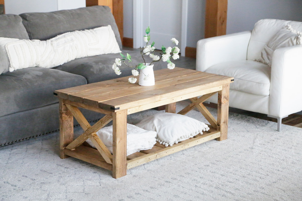 farmhouse coffee table beginner under
