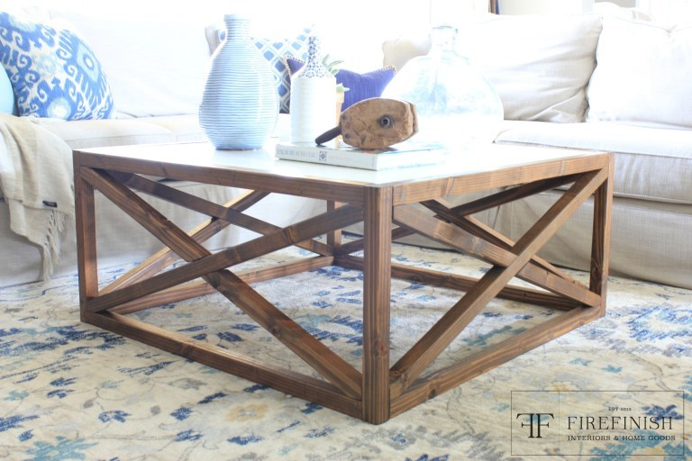 square x coffee table by firefinish