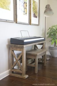 Ana White | Keyboard Stand with Bench - DIY Projects