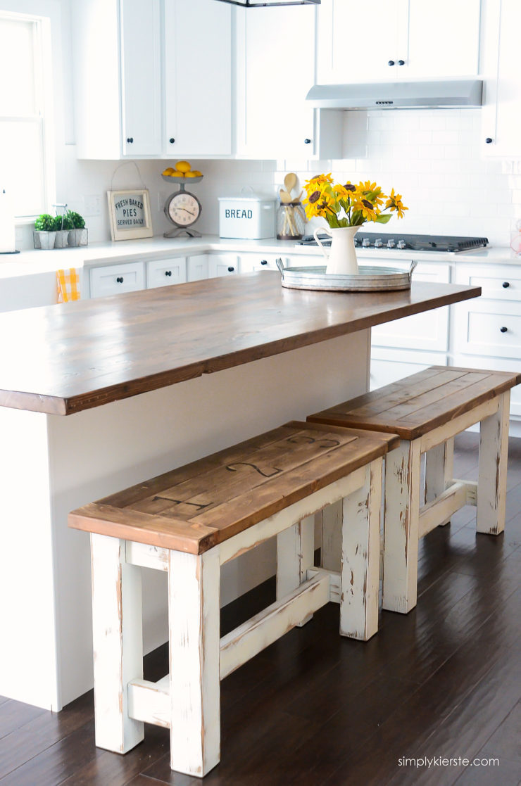 white kitchen bench drop leaf table ana benches featuring simply kierste design co