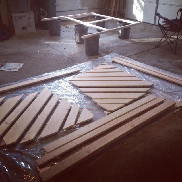 Ana White Chevron Wood Headboard DIY Projects