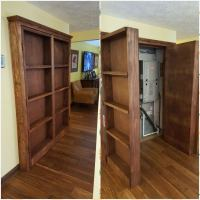 Ana White | Bookshelf Hidden Doors Over Closet - DIY Projects