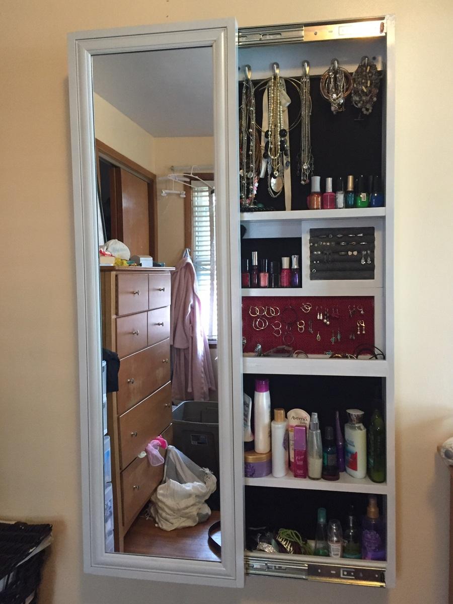 Ana White  JewelryMakeup Storage Cabinet  DIY Projects