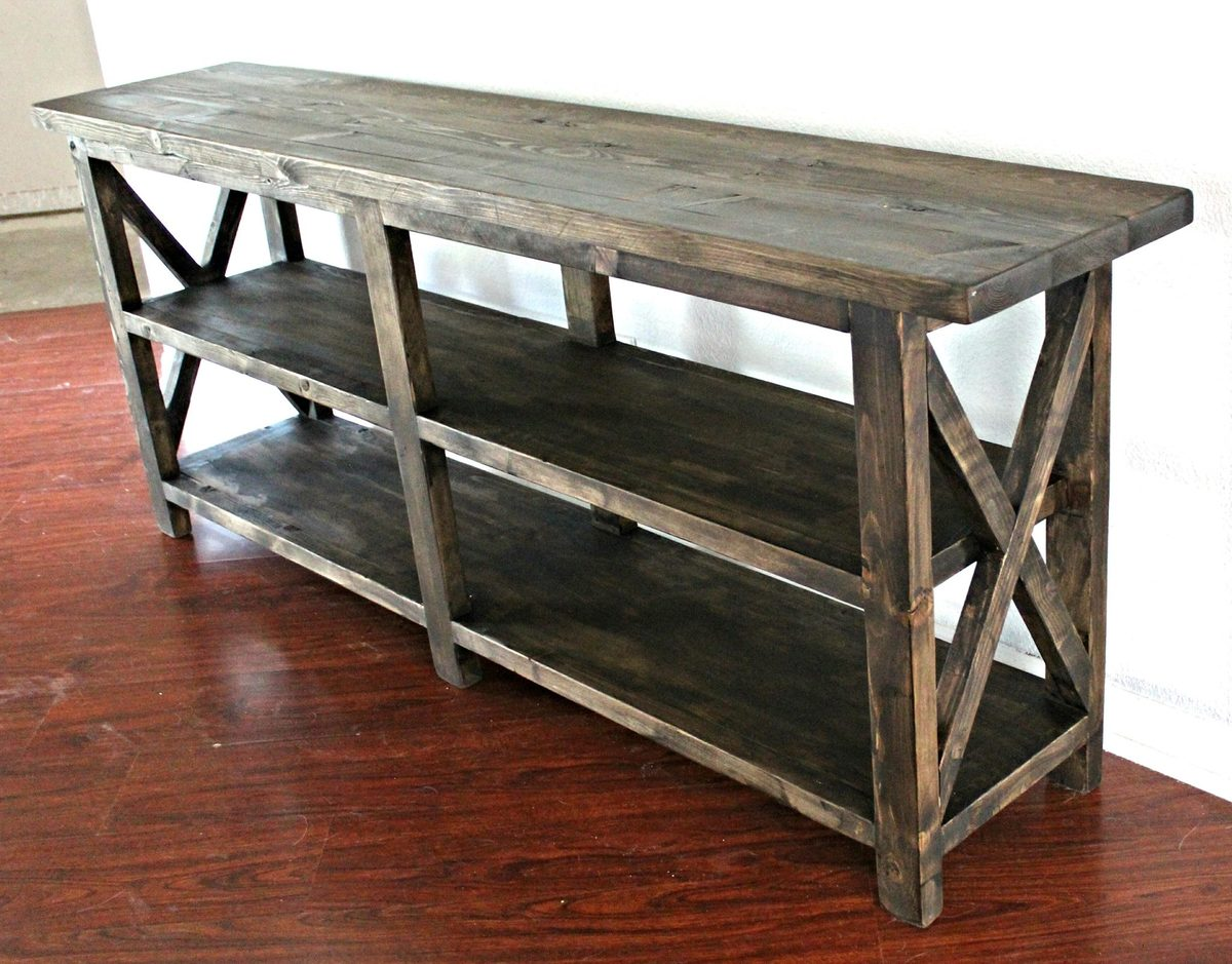build a rustic sofa table serta upholstery in abington safari ana white x console diy projects