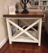 Ana White | Rustic X end table - DIY Projects