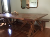 Ana White | Fancy X farmhouse table with modifications ...
