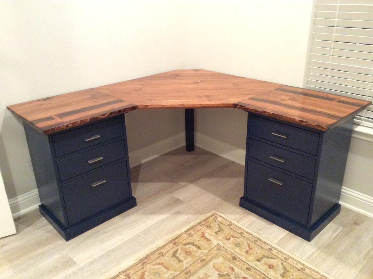 Ana White  Colorful Custom Bedford Corner Desk  DIY Projects