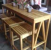 Ana White Sutton Custom Outdoor Bar Stools - Diy Projects