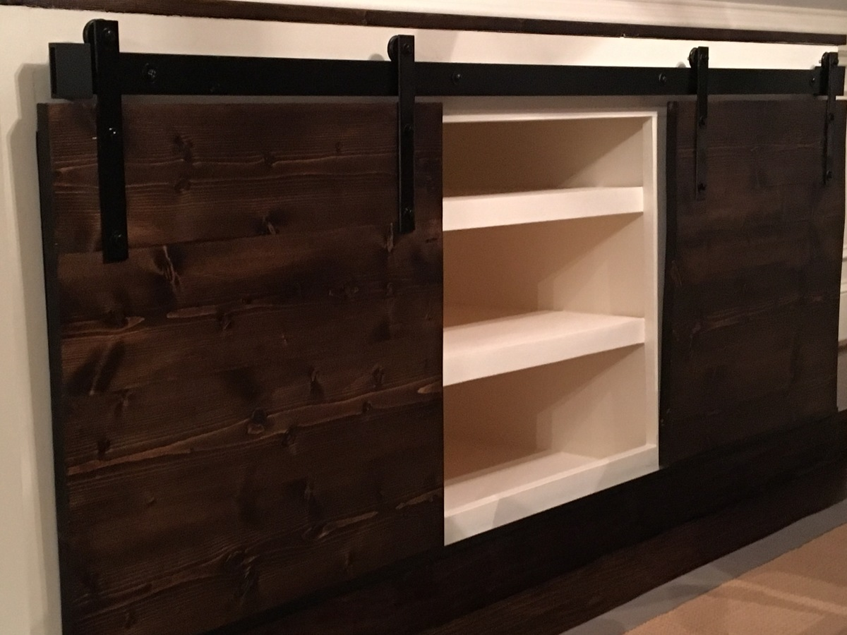Ana White  Sliding barn door console  DIY Projects