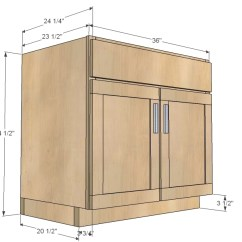 Kitchen Base Cabinets Island Lanterns Ana White Cabinet Sink 36 Full Overlay Face Frame Diy Projects