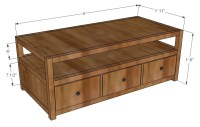 Wooden Coffee Table Plans And Measurements PDF Plans