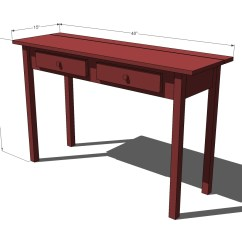 Sofa Table Size Set Cheap Ana White Stair Leg Flip Top Console Diy Projects