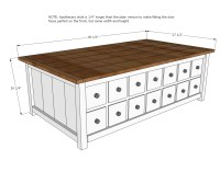 Ana White | Apothecary Coffee Table with Toybox Trundle ...