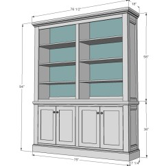 Kitchen Hutch Plans Island Butcher Block Top Ana White Shanty Diy Projects