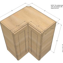 Kitchen Cabinet Plans Table And Chairs Sets Ana White Build A 36 Quot Corner Base Easy Reach