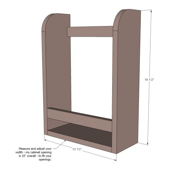Cabinet Door Paper Towel Holder