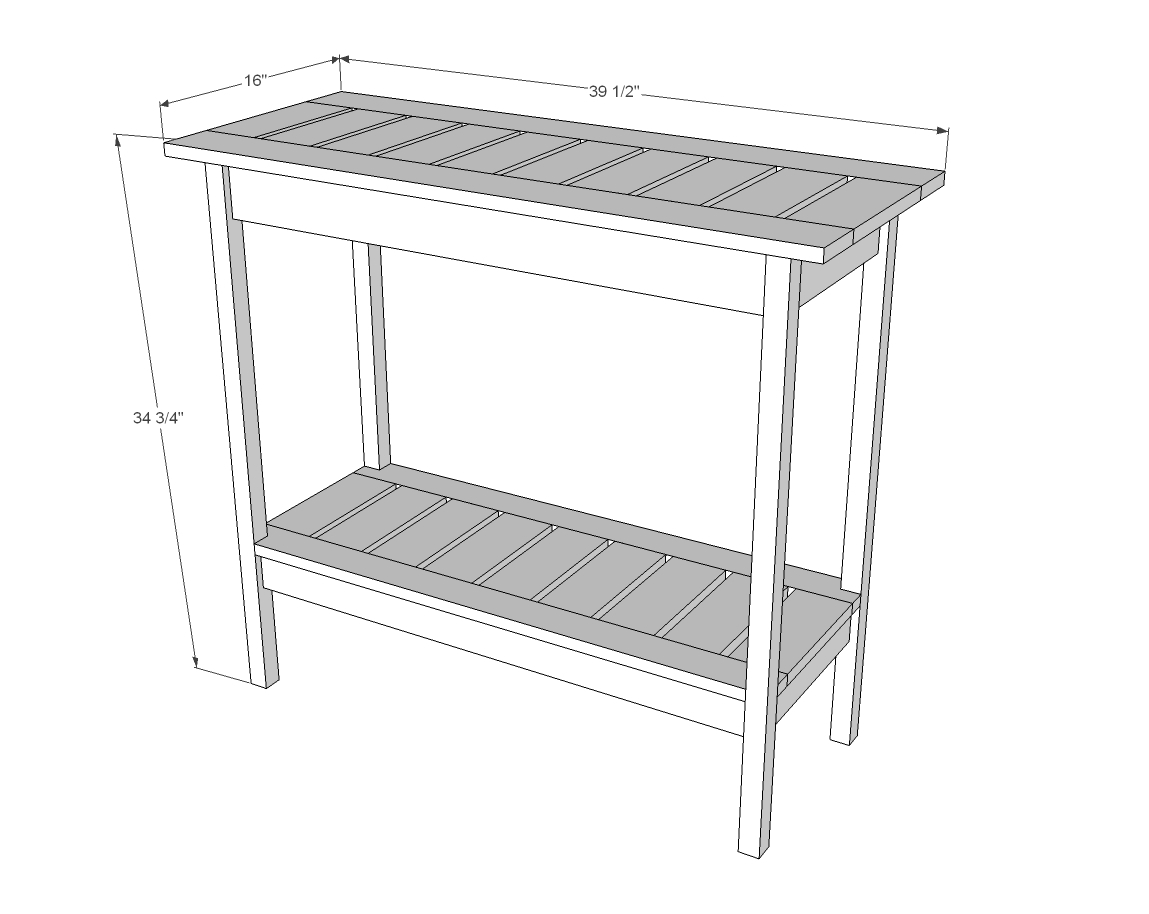 diy outdoor sofa table violet sleeper ana white stair baluster console