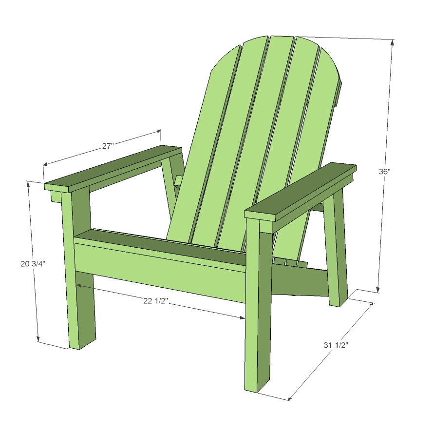 adirondack chair plan leather oversized ana white 2x4 plans for home depot dih workshop diy projects