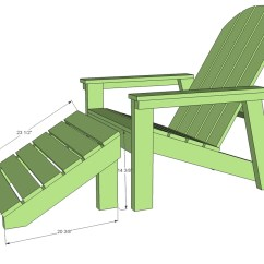 Adirondack Chair Blueprints Child Potty Ana White Home Depot Footstool Diy Projects