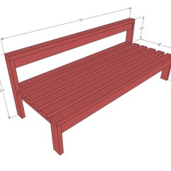 Plans To Build Outdoor Sectional Sofa Large Sofas Under 1000 Ana White Armless 2x4 Matches Ryobi And