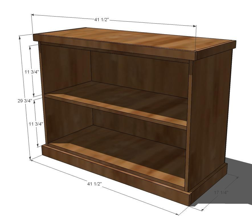 Short And Wide Bookshelf