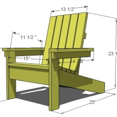 Adirondack Chair Blueprints Picture Frame Molding Above Rail Ana White How To Build A Super Easy Little Diy Dimensions