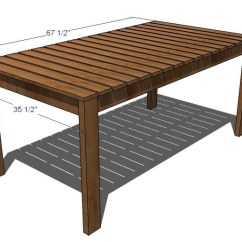 Outdoor Table And Chairs Wood What Is Anti Gravity Chair Ana White Simple Dining Diy Projects