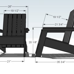 Adirondack Chair Diy Ana White Toddler Saucer Modish Projects Dimensions