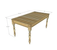 Ana White | Small Old English Style Farmhouse Dining Table ...