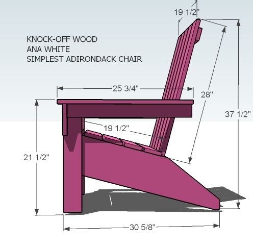 adirondack chair blueprints kitchen pads with ties ana white s diy projects dimensions